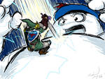 Link vs. Stay Puft