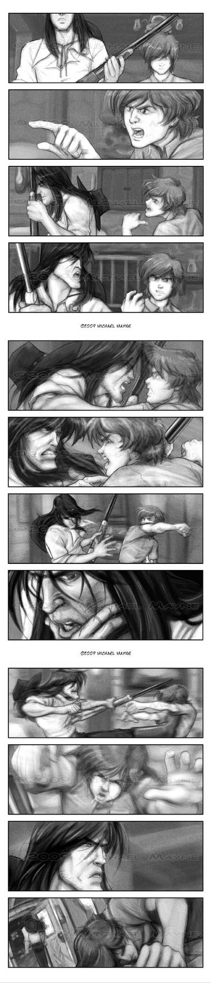 Old West comic test pages