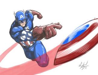 Captain America's Shield by MichaelMayne