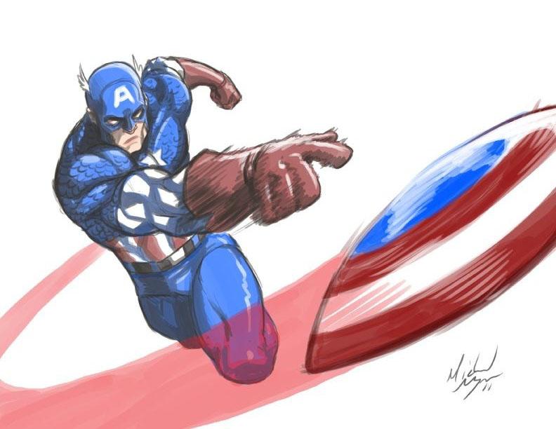 Captain America Shield Drawing: Captain America's Shield By MichaelMayne On DeviantArt