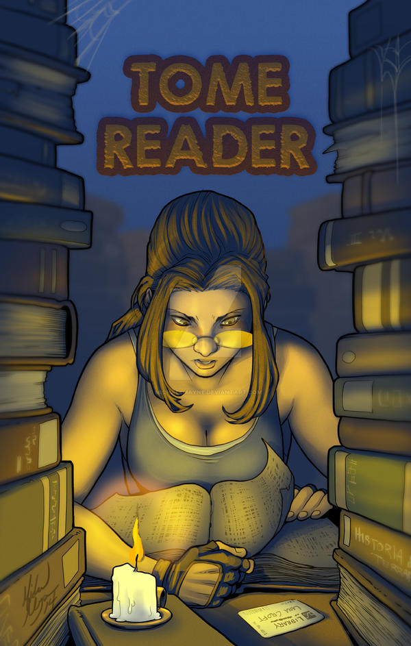 Lara Croft - Tome Reader by MichaelMayne