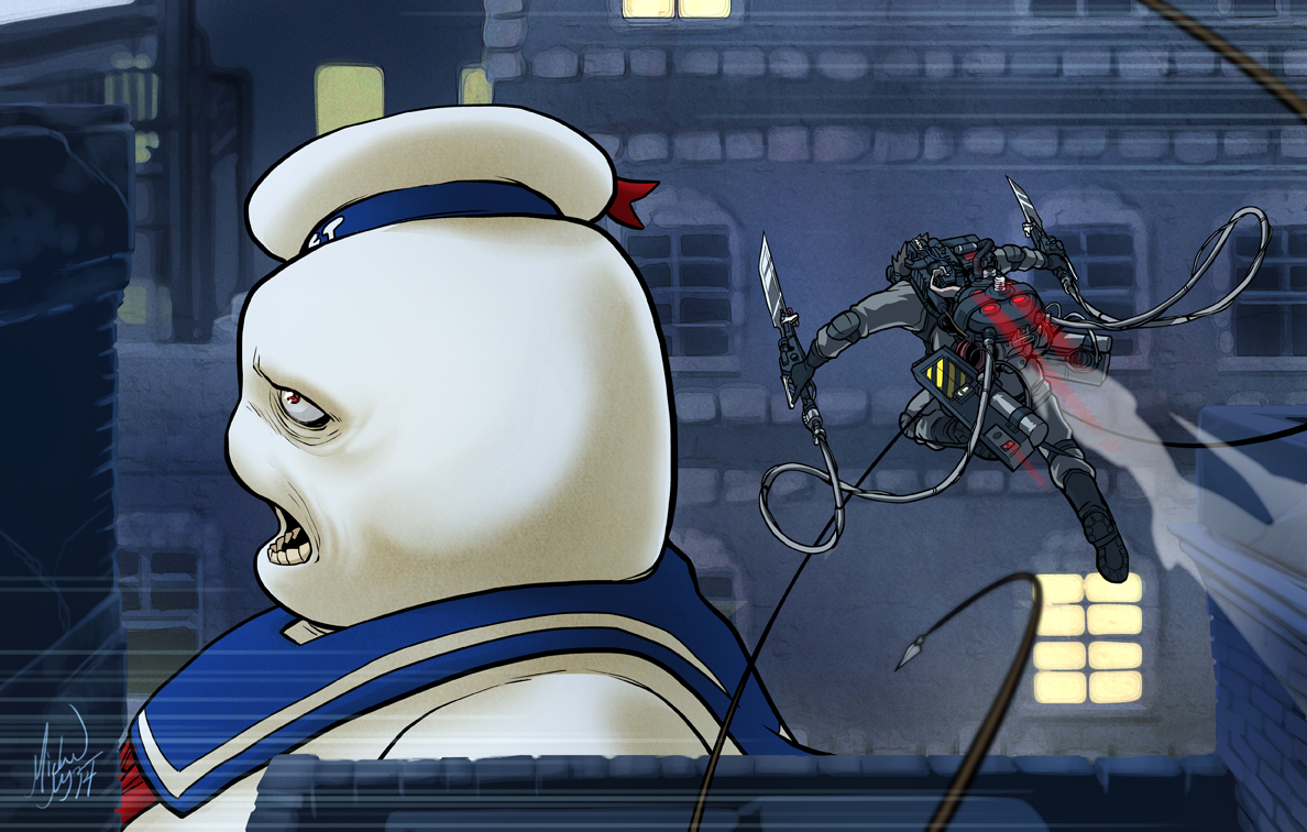 Attack on Stay-Puft by MichaelMayne