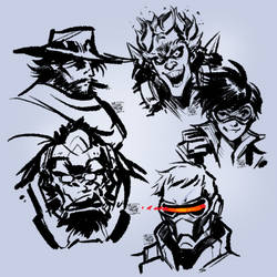 Overwatch sketches 01