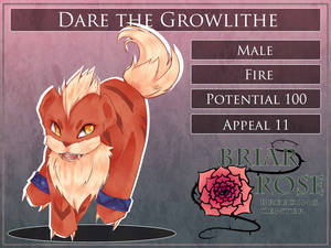 PARPG Dare the Growlithe Reference by Nika-tan