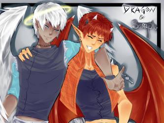 :OW: Dragon + Seraph by Nika-tan