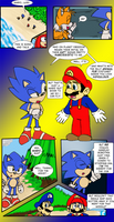 Mario and Sonic Movies Meet- Page 49- color bonus by RedBlueIsCool
