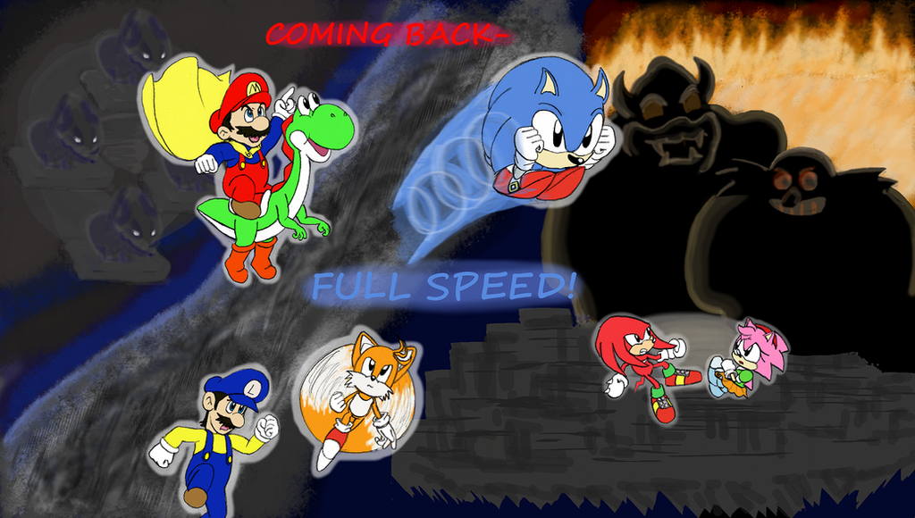 Mario and Sonic Movies Meet Part 2 Cover by RedBlueIsCool