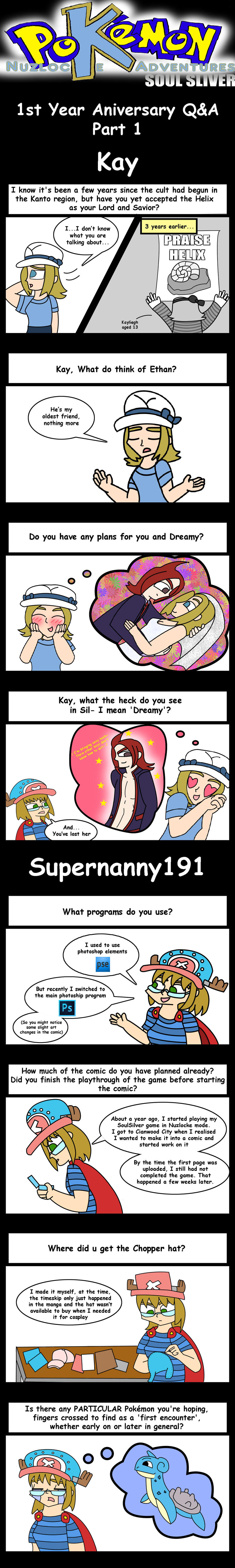 Nuzlocke 1st Year Q+A Part 1: Kay and Super by supernanny191