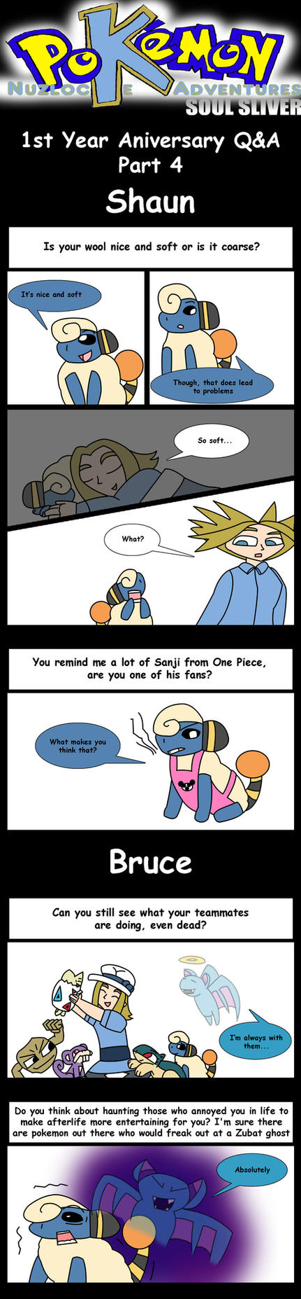 Nuzlocke 1st Year Q+A Part 4: Shaun and Bruce by supernanny191