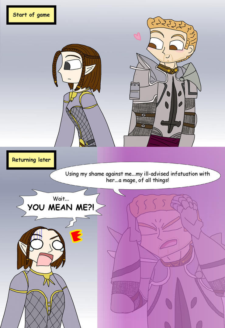 Dragon Age Origins: Infatuation reaction by supernanny191