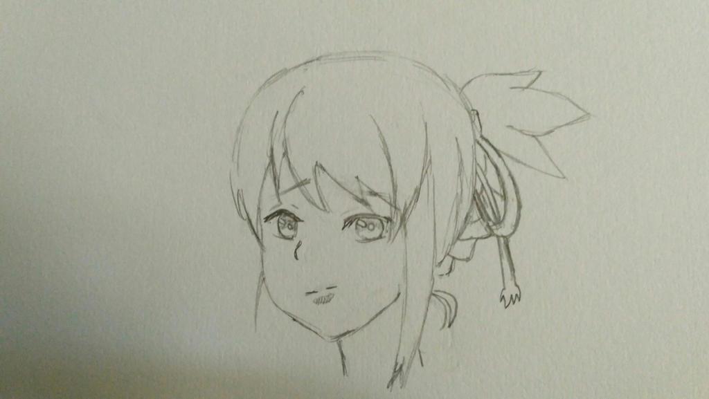 some sketch of Mitsuha by hafizmepih