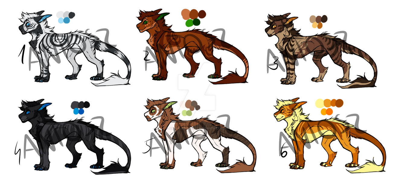 Warriors inspired vernid adopts OPEN by animaladopts4u