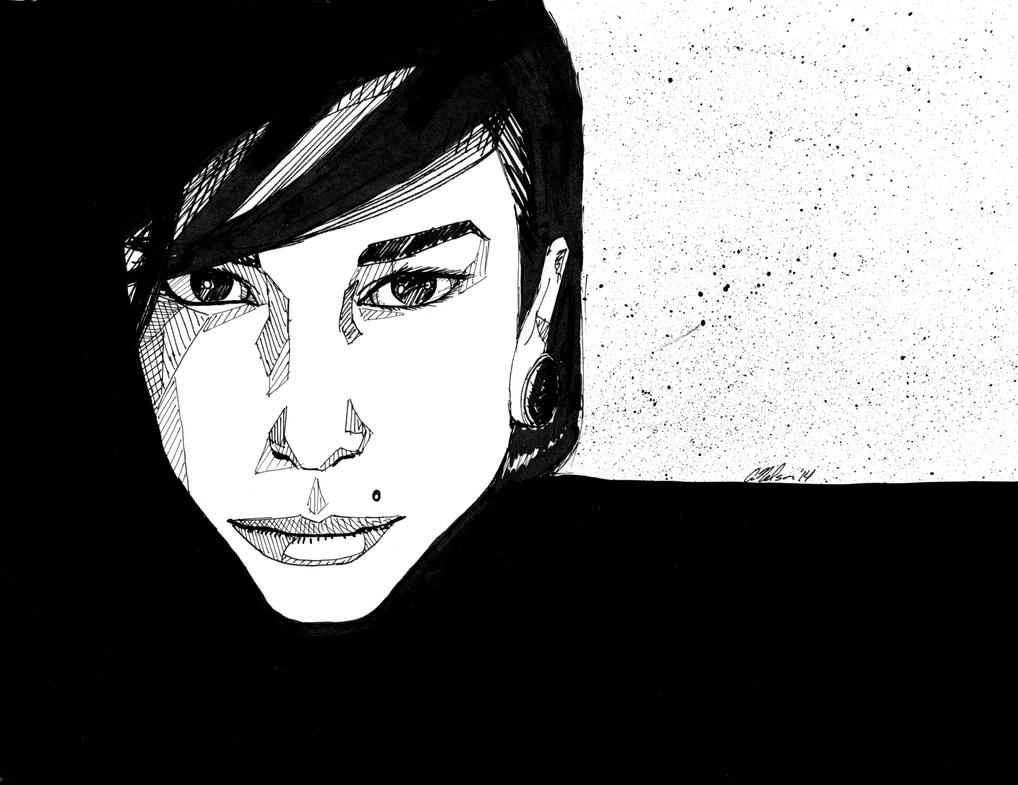 Ink Portrait by MacAnthony30