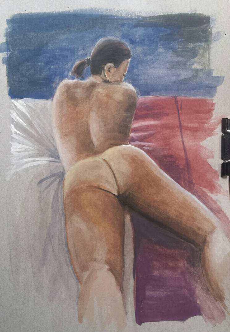 Figure on bed  by MacAnthony30