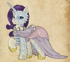 Equestria Divided House Whitegold Rarity by Fujin777