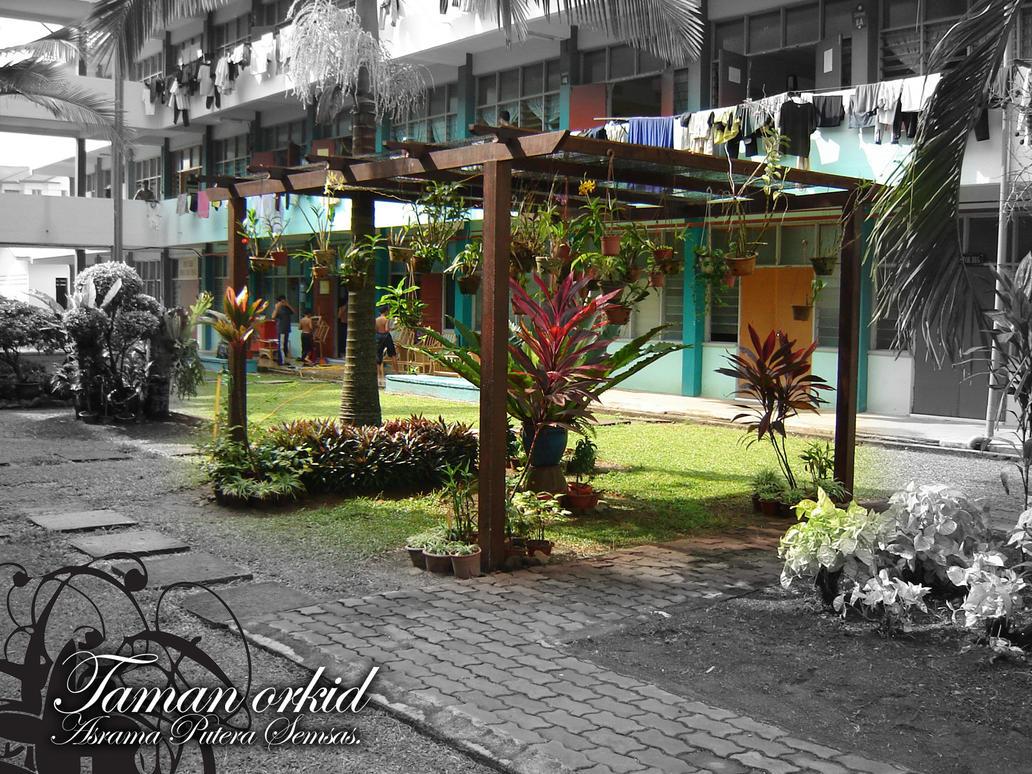 taman bunga orkid kat aspura by lemonyangpahit on deviantart