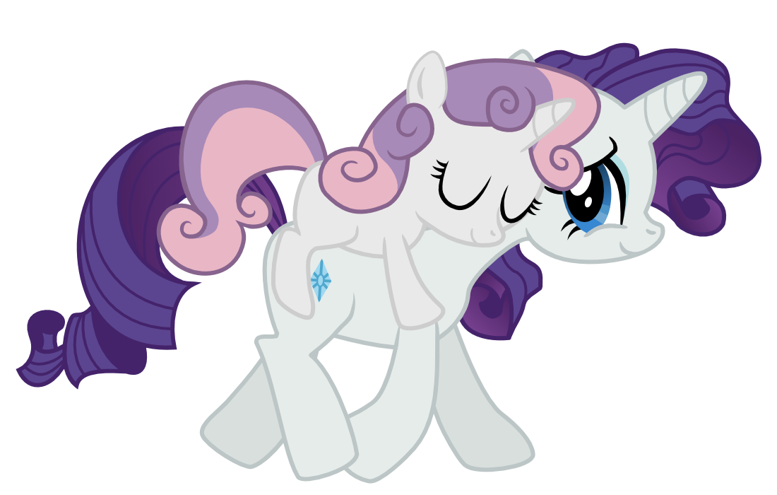 My little pony rarity and sweetie belle - photo#11