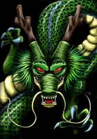 Shenron The Dragon God of Dragon Ball by The-Dreaming-Dragon