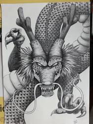 Shenron The Dragon God of Dragon Ball (pencil)