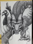 Shenron The Dragon God of Dragon Ball (pencil)