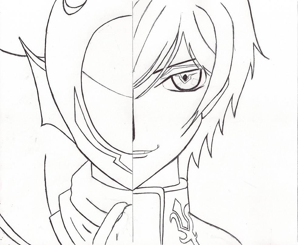Lelouch or Zero Outline by YeLLowCarDxGirL on DeviantArt
