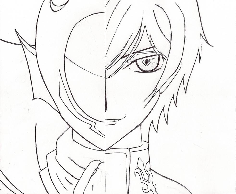 Zero Outline Lelouch or Zero...