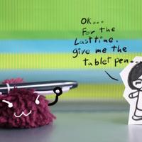 Tablet Pen -Me vs. Ponpon- by sour-lollipop