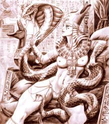goddess of egypt by Gorgoncult