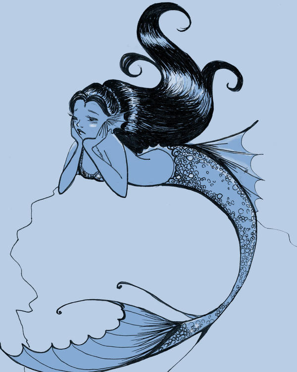 Mermaid Doodle. by SteakandUnicorns