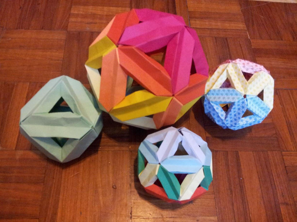 Origami Icosahedral Skeleton - YouTube | 768x1024
