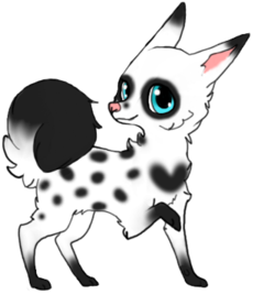Black speckled puppy by Meow16305