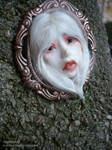 Art Doll Face cameo pendant 8a by Moniee
