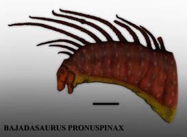 Reverse Amargasaurus: Bajadasaurus pronuspinax by Paleonerd01