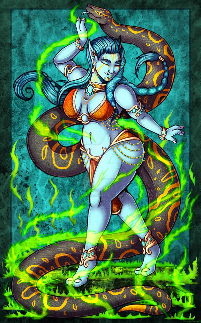 Fire Dancer - OsyraJade Trade by ZulterithCreations