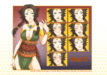 Commission for Jalek Moye: Xing Yi+expressions