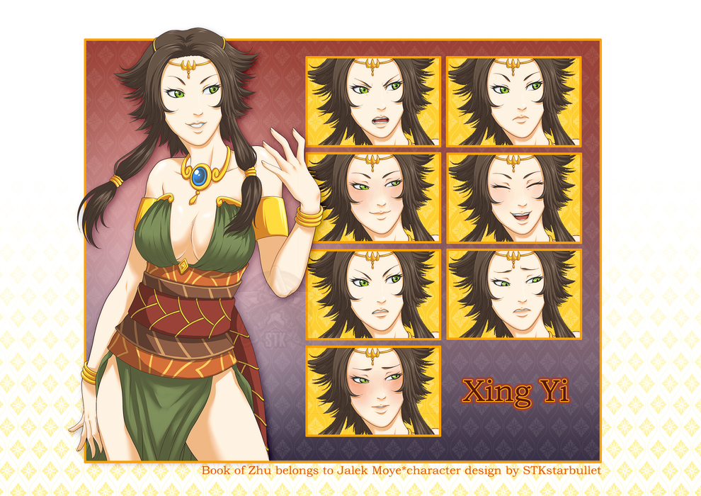 Commission for Jalek Moye: Xing Yi+expressions by starduo