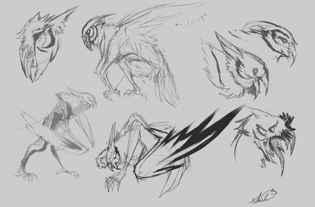 owl creature by okami moonspiritwolf on deviantart