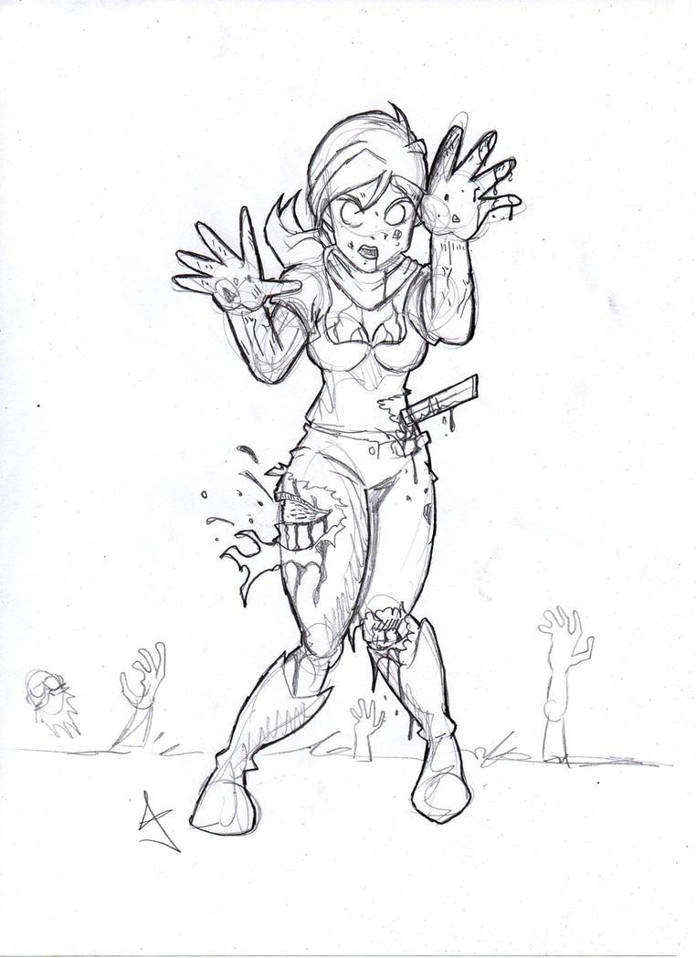 The zombie apocalypse coloring book - Zombie Apocalypse Zombie Bulma By Foxrir