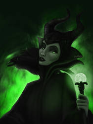 Maleficent by ladyphoenixskull