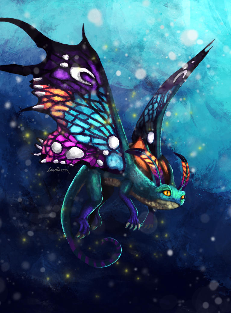 Faerie Dragon by ladyphoenixskull