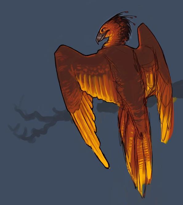 Unfinished Phoenix by aspera