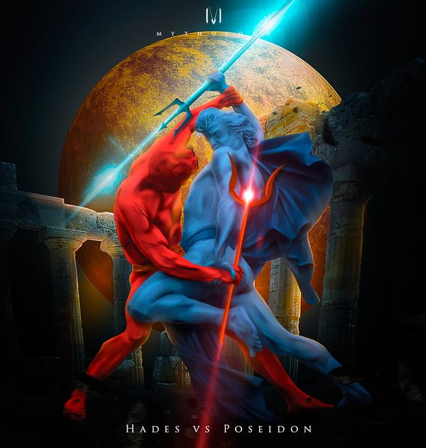 Hades vs Poseidon by M-Y-T-H-O-L-O-G-Y