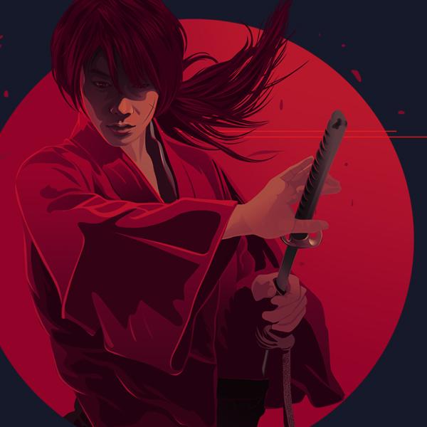 Himura Kenshin by caffeinesoup
