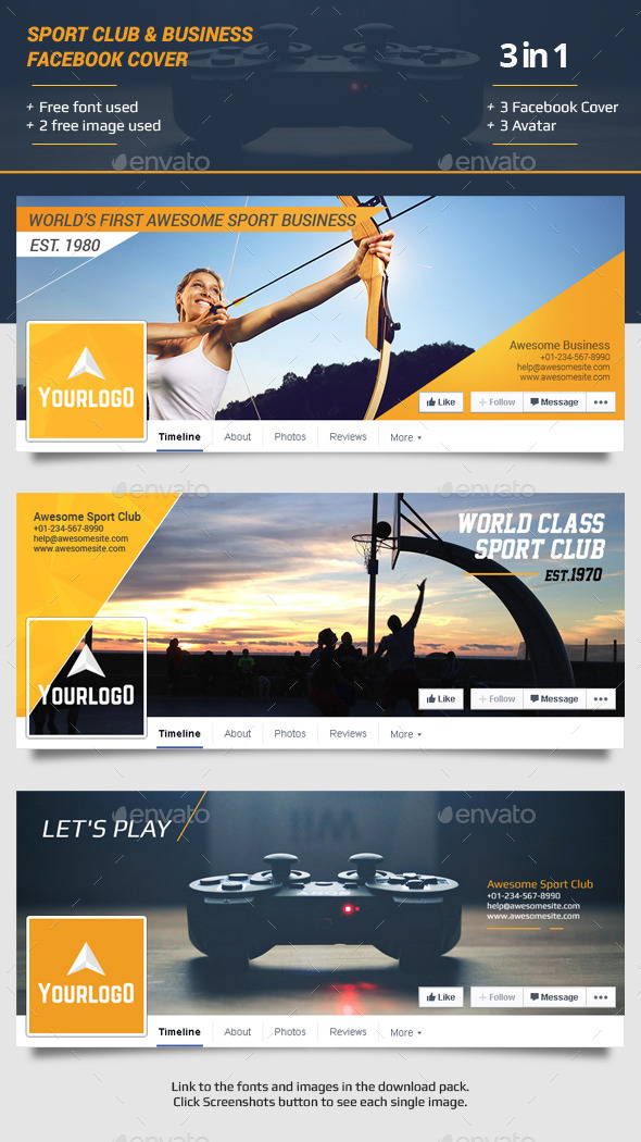 Sport Club Business Facebook Timeline Cover by caffeinesoup