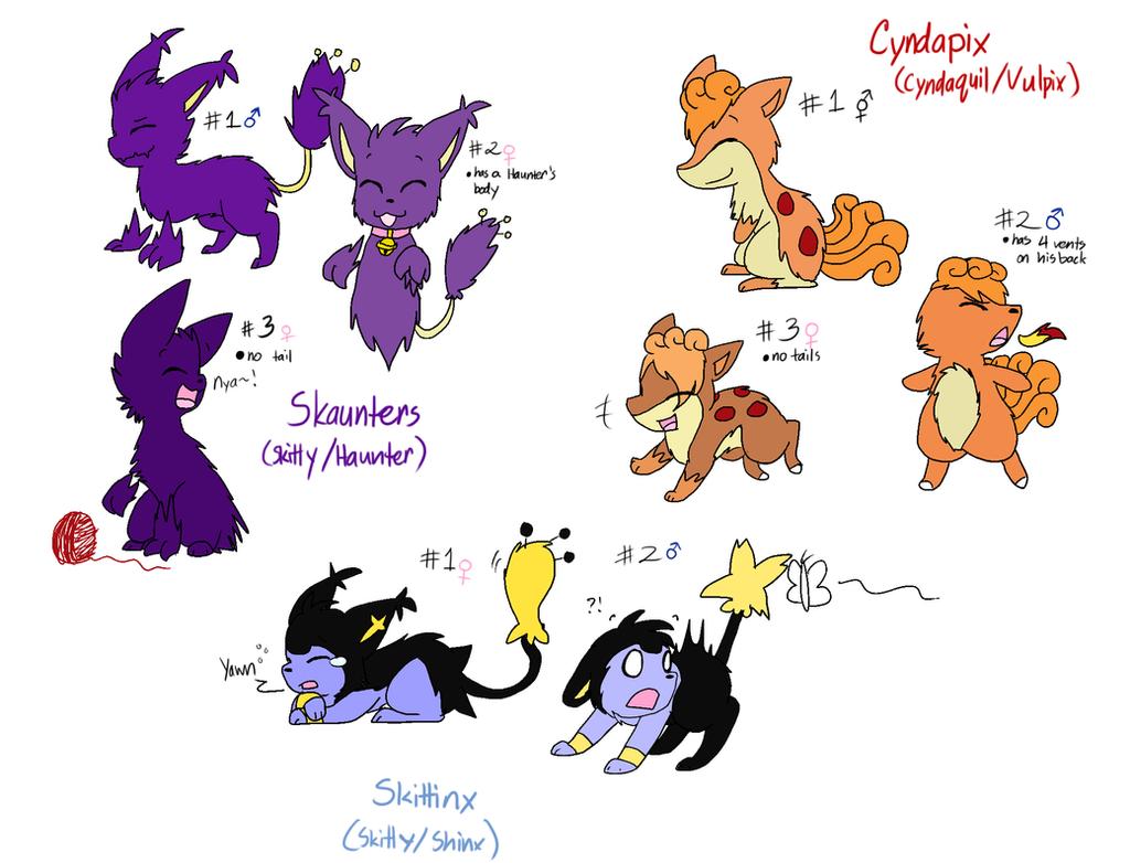 Skaunter, Cyndipix, and Skittinx Adopts-CLOSED by SkittyKittyCat