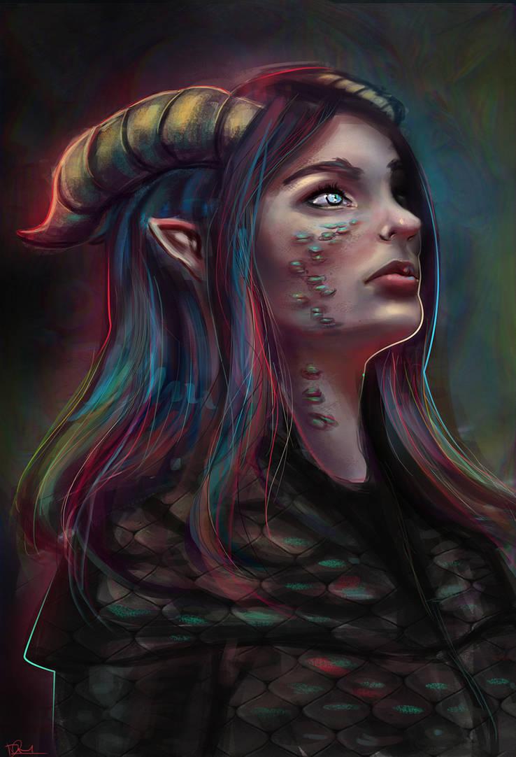 Dragon girl by Dr--Miasma