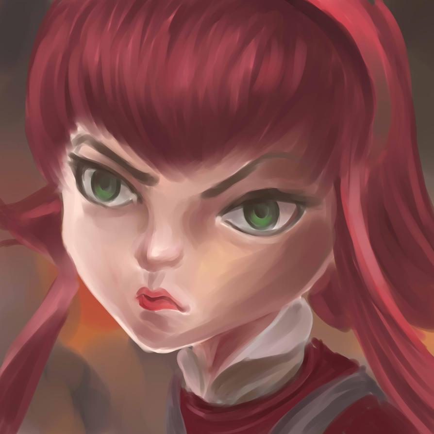 LoL Challenge Annie [Speed paint 45 min] by Zeke-Yggrassil