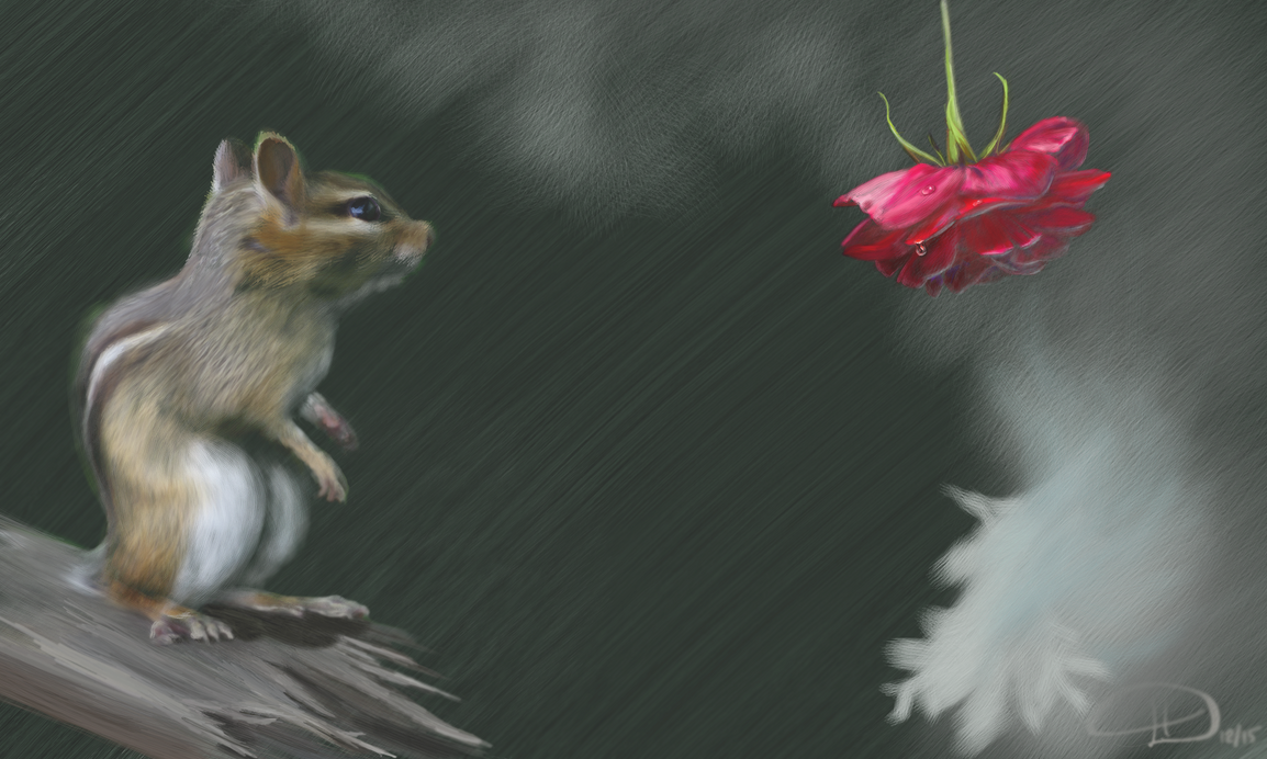 The Chipmunk and the Rose by LariaReve