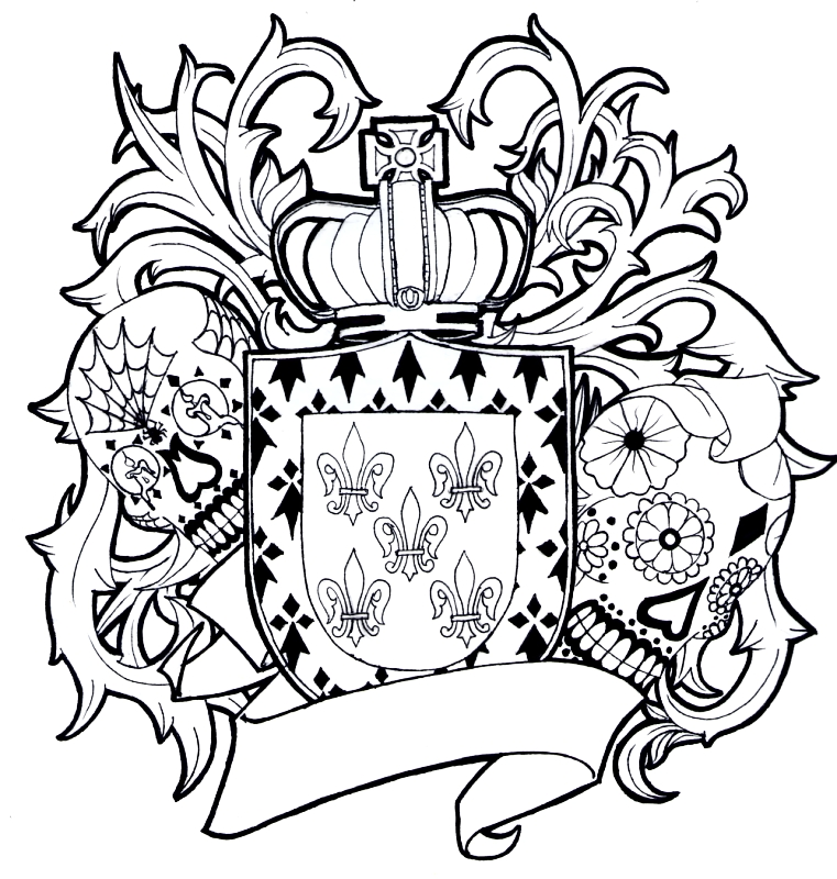 Banuelos Family Crest By Mos Blunt