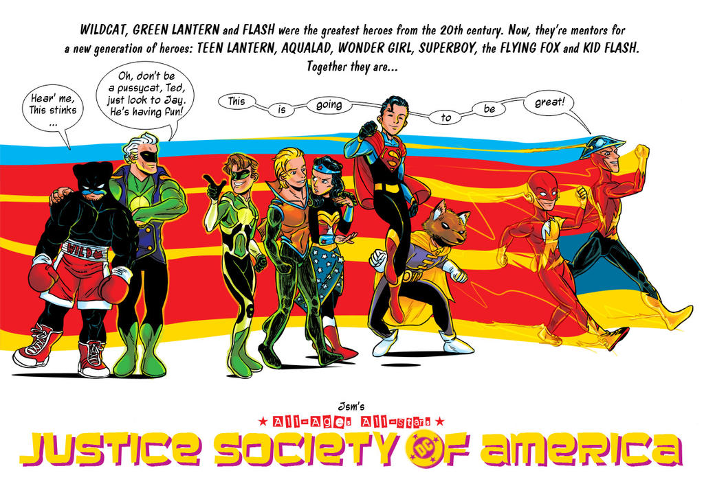 All-Ages All-Stars Justice Society of America by JsmNox